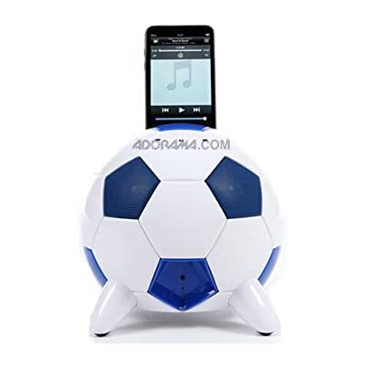 Speakal mi-Soccer 2.1 Stereo Speakers and Docking Station with 3 Speakers for iPod (Blue/White) by Speakal