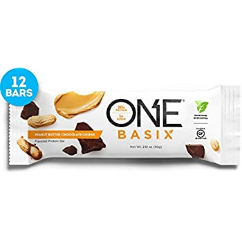 ONE Basix Protein Bars Peanut Butter Chocolate Chunk Gluten Free With 20g