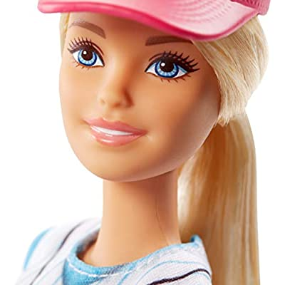 Barbie Ultra-Flexible Baseball Barbie Doll with Mitt: Toys & Games