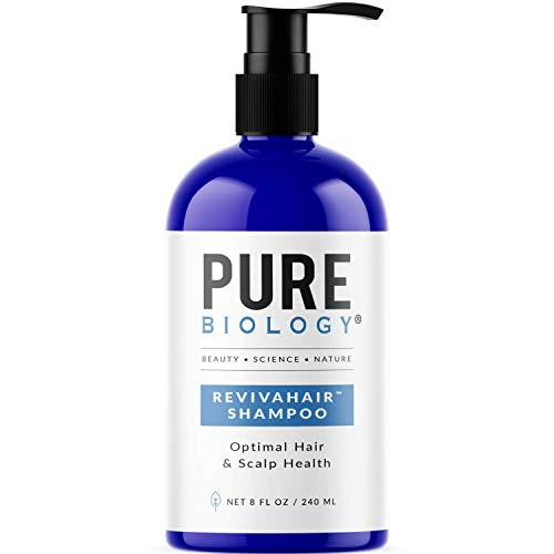Pure Biology Premium Revivahair Shampoo with Biotin for Hair Growth & Clinically Proven Procapil – DHT Blocker Thickening Shampoo for Thinning Hair and Hair Loss, Volumizing Shampoo for Men and Women