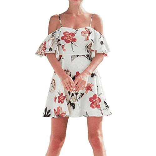 住所修理工構造Aliciga チュニック レディース 春 Aライン ワンピース 花柄 ゆったり キャミソール フリル 肩出し 夏 服 かわいい ボヘミア ドレス パーティー お出かけ 海 ビーチ 人気 旅行 ハワイ セクシー