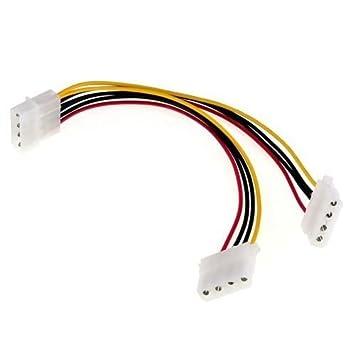 2 Wege 4 Polig PSU POWER SPLITTER-KABEL Kabel: Amazon.de: Elektronik