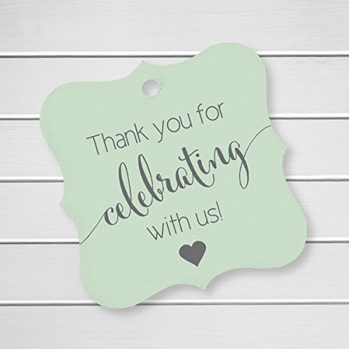 Thank You Favor Tags, Thank You Wedding Tags, Thank you for Celebrating With Us (FS-362-MT)