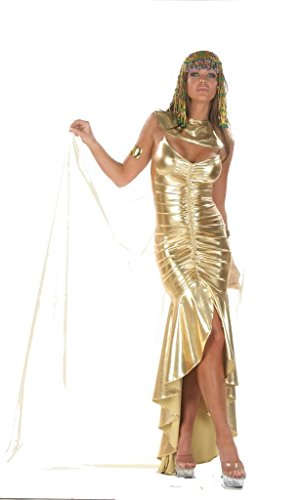 Nom de Plume, Inc Sexy Lame Cleopatra Gown Costume Set Small Gold