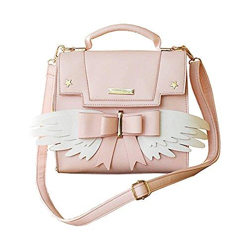 (KINOMOTO Anime Shoulder Bag Cosplay PU Crossbody Messenger Bag School Handbag (#2))