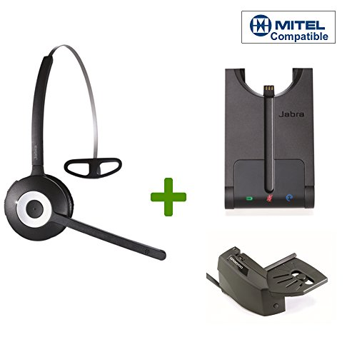 Mitel Compatible Jabra PRO 920 Wireless Headset Bundle | Remote Answering Lifter Included | Compatible Mitel IP phones: 5000, 5010, 5020, 5040, 5055, 5140, 5312, 5324, 5330, 5340, 5360