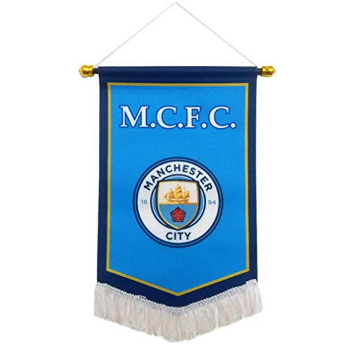 UHBHEA FC Manchester City Flag - Soccer Club Pentagon Hanging Flag for Indoor/Outdoor/Bedroom/Bars Decoration Blue (Pentagon City)
