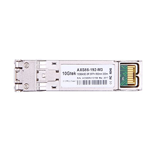 10Gtek for Cisco SFP-10G-SR, 10Gb/s SFP+ Transceiver module, 10GBASE-SR, MMF, 850nm, 300-meter by 10Gtek (Image #2)