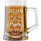 Jarra de Cerveza Personalizada Día del Padre BANDA CON CORONA Regalo Grabado y Personalizado para Hombre o Mujer…