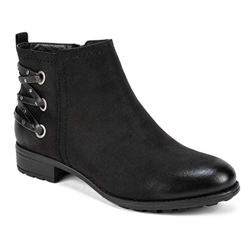 Womens Mountain Boot Ankle - WHITE MOUNTAIN Women's Riley Ankle Boot Black/Sueded/Fabric 10 M US
