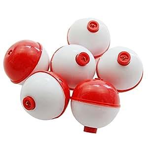 Shaddock Fishing ® 25pcs/pack 1inch Hard ABS Push Button Fishing Floats Bobbers