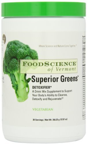 Foodscience of Vermont Superior Greens Detoxifier (Vegetarian, 30 Servings, 356.25g) by Food Science by Foodscience Of Vermont