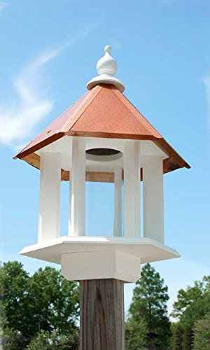 Wing & A Prayer Azalea Bird Feeder with Hammered Copper Colored Roof