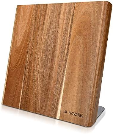 Diseño innovador: La elegante tabla es de madera de acacia. Es un accesorio que ordena tu cocina y l