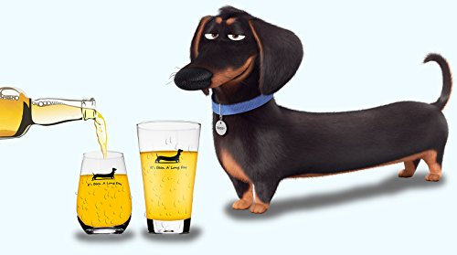 Momstir It's Been a Long Day Dachshund Funny Novelty Beer Glass & Wine Glass Combo 16oz Wiener Dog Beer Gifts Dog Beer Gifts Present for Dad Papa Grandpa by Momstir (Image #3)