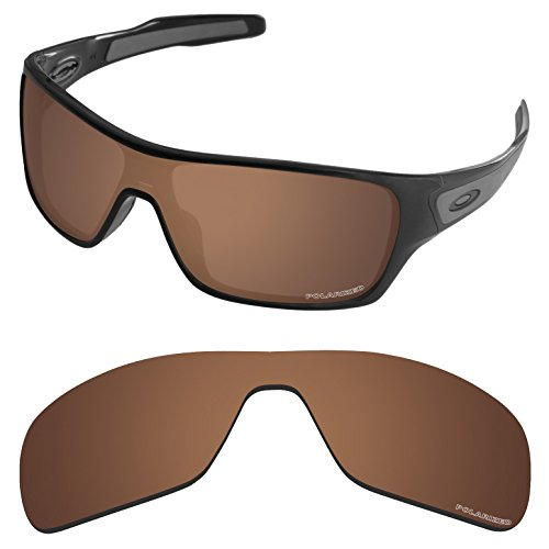Tintart Performance Replacement Lenses for Oakley Turbine Rotor Sunglass Polarized Etched-Nut Brown