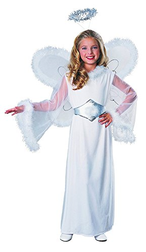 Feathered Fashions Child's Snow Angel Costume, (White Feathered Angel Wings)