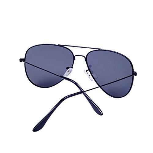 Lente Espejo Antirreflejante QIXU con Aviador Caso Efecto Sol el y de Hombre Negro para Mujer UV400 Polarizadas Gafas 11qvnSPC
