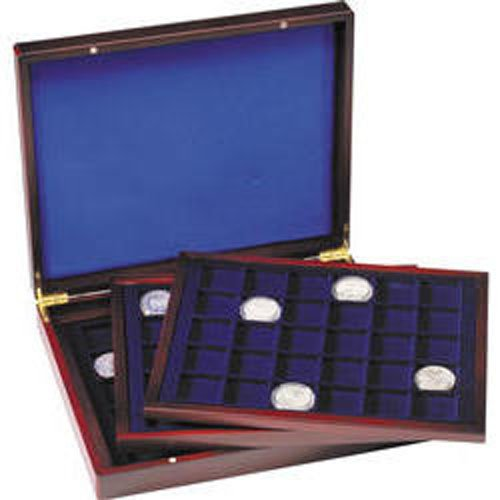 Wooden Coin Presentation Case with 3 Trays for 30 Coins