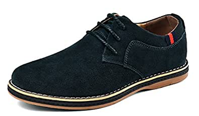 VanciLin Men's Casual Suede Leather Dress Working Shoes Lace-Up Oxford Shoes(V2008Green39)