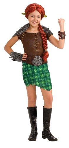 [Shrek Child's Deluxe Costume, Princess Fiona Warrior Costume] (Warrior Fiona Costumes)
