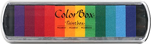 - CLEARSNAP Colorbox Pigment Paintbox 2-Option Pad, Brights, 12 Colors Per Pad