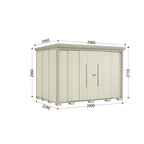 タクボ物置 ND/ストックマン 側面棚 ND-S2922Y 多雪型 標準屋根 『屋外用中型大型物置』 ムーンホワイト B018CAAF68