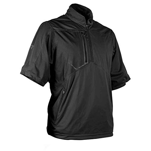 Sun Mountain Rainflex Short Sleeve Pullover (Medium, Black)