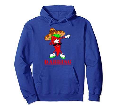 Unisex Funny Dabbing Hot Chili Pepper Dab Dance Cute Gift Hoodie Medium Royal Blue Dancing Chili Pepper