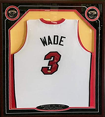 best loved 87c7b b1cf8 Autographed Dwyane Wade Jersey - Framed White - Autographed ...