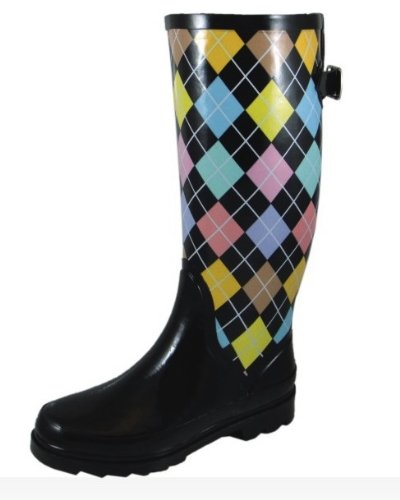 Amazon.com | Sweet Beauty Women's Rubber Rain Boots Multi-color ...