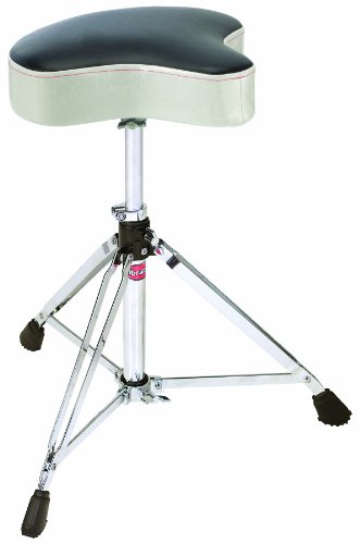 (Gibraltar 6608MSW Double Braced Throne Base Moto Seat, Silver White Sparkle)