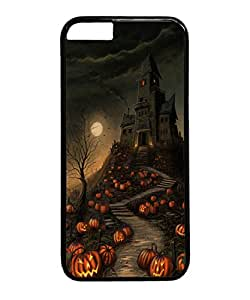 Iphone 6 Case, Halloween Haunted House Pumpkin Path PC Case Cover for Apple iPhone 6 4.7 Inch Black