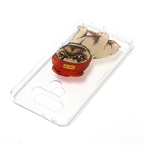 Funda LG G6 E-Lush TPU Silicona Carcasa Brillo Fundas LG G6 Suave Protectora Caso Ultra Delgado Cubierta Ligero Case Flexible Transparente Bumper Anti Rasguños Ligero Caja Anti Choque Case Cover - Per Perro