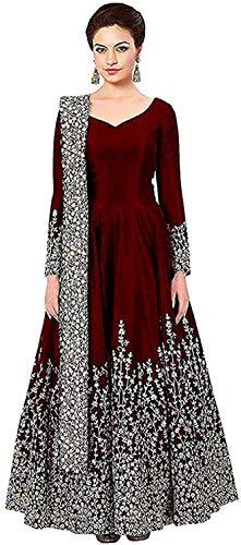 Dhyani Creation Woman's Exclusive Tapeta Silk Anarkali Gown (Free Size)