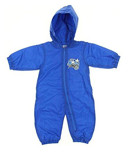 オーランドマジックNBAベビー男の子幼児レトロフード付きウィンドブレーカーカバーオール、ブルー 6-9 Months  B01FSXJ02C