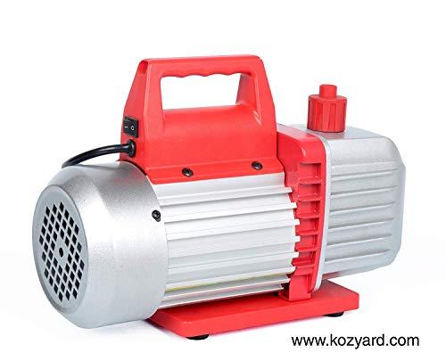 Kozyvacu 5CFM 2-Stage Rotary Vane Vacuum Pump (5.0CFM, 40Micron, 1/2HP) for HVAC/Auto AC Refrigerant Recharging, Degassing wine or epoxy, Milking cow or lamb, Medical, Food processing etc. by Kozyvacu (Image #3)