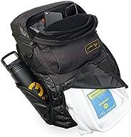 Gold BJJ Jiu Jitsu Backpack - Heavy Duty Gym Bag with Waterproof Gi Pocket