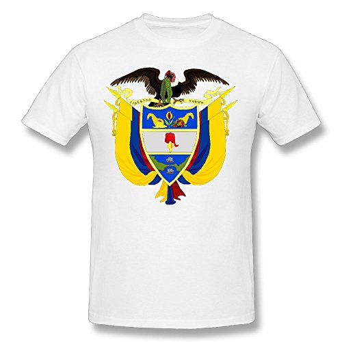X-JUSEN Men's Coat Of Arms Of Colombia