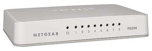 81 opinioni per Netgear FS208-100PES Switch, 8porte Fast Ethernet non schermate autosensing e