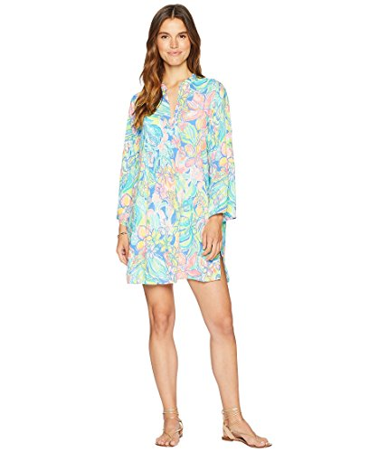 Lilly Pulitzer Women's Esme Cover-up Bennet Blue Surf Gypsea X-Large
