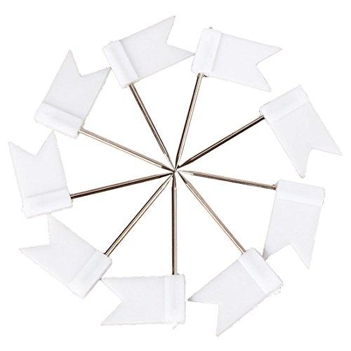 (Flag Shape Push Pin - TOOGOO(R)100 Flag Shape Map Pins Cork Notice Board Drawing Pins Push Pin White)