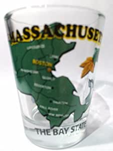 Massachusetts The Bay State All-American Collection Shot Glass by World By Shotglass