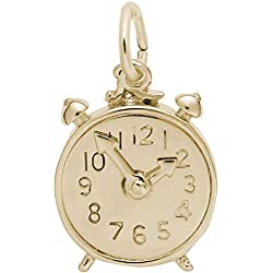 Rembrandt Alarm Clock Charm - Metal - Gold Plated Sterling Silver