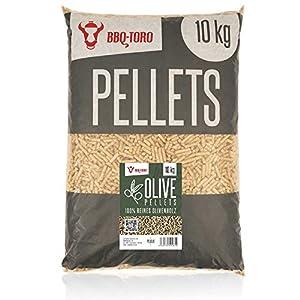 BBQ-Toro Olive Pellets in Legno di ulivo al 100% | 10 kg | Pellet in ulivo per Grill, Smoker, Pellet per forni da Pizza… 412sLsYFPqL. SS300