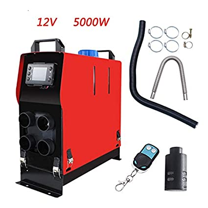 f2e77ea4211 Amazon.com  YX 12V 5KW Air Diesel Parking Heater Warming 4 Holes with LCD  FIT for Van Trucks Boats Bus Diesel Heaters Free Installation  Sports    Outdoors