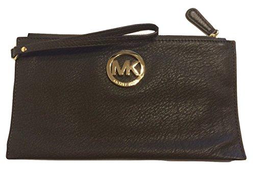 Michael Kors Fulton LG Zip Clutch DK Olive - Bag Aqua Michael Kors