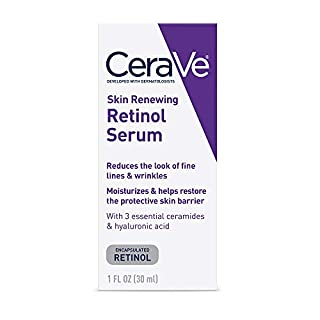 CeraVe Anti Aging Retinol Serum | 1 Ounce | Cream Serum for Smoothing Fine Lines and Skin Brightening | Fragrance Free