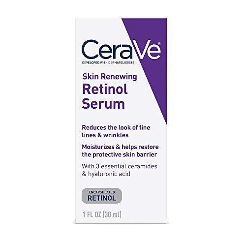 412sM7vt9nL - CeraVe Anti Aging Retinol Serum for Face | 1 Ounce | Cream Serum for Smoothing Fine Lines | Fragrance Free