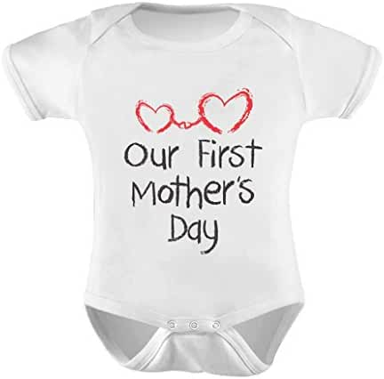 TeeStars - Our First Mother's Day - Mommy and Me Cute Infant Baby Bodysuit